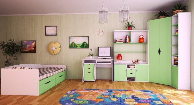 Уголок школьника: мебель, интерьер, освещение