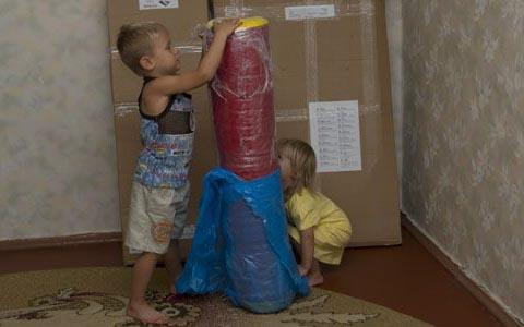 снимаем защитую, транспортироваочную упаковку